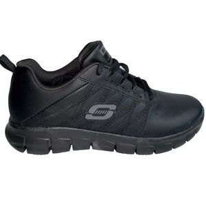 Sketchers Work Non-Slip Black Sneakers